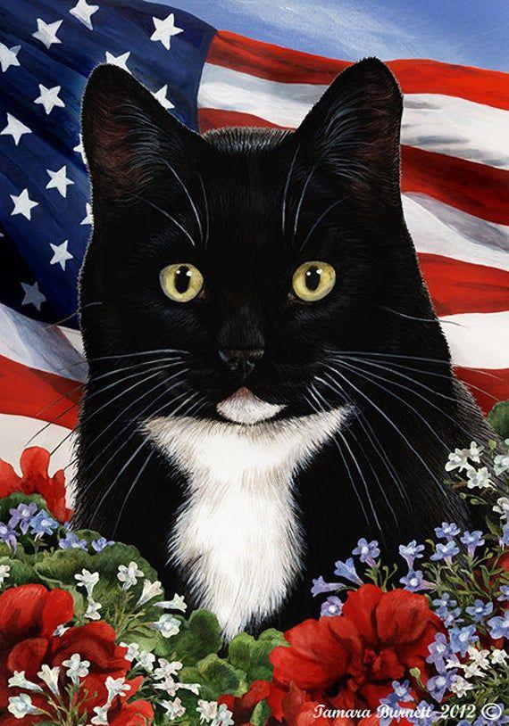 Cat Garden Flag Dog Flags, Tuxedo Cat Garden Flags