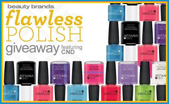 Beauty Brands Flawless Polish Giveaway WIN aCND Vinylux Polish Set Enter DAILY-Ends 8/25
