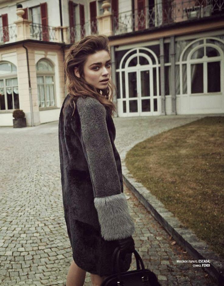 Polish Models Blog: Editorial: Karolina Gorzala for Marie Claire Ukraine, January 2014