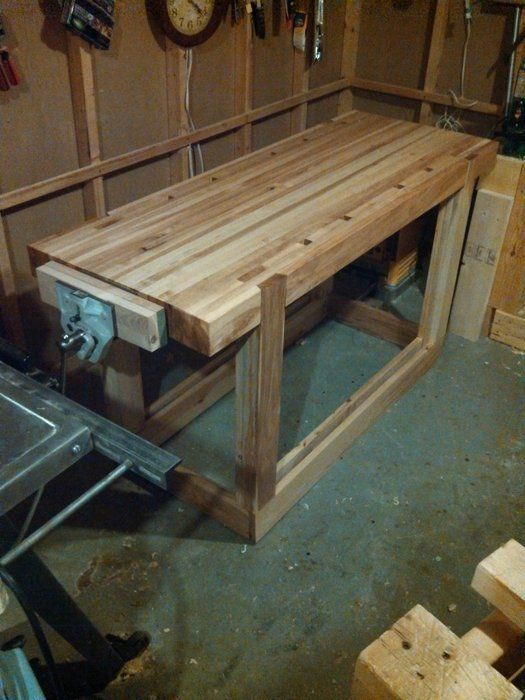 Ash woodworking bench with vice - by lightcs1776 @ LumberJocks.com ...