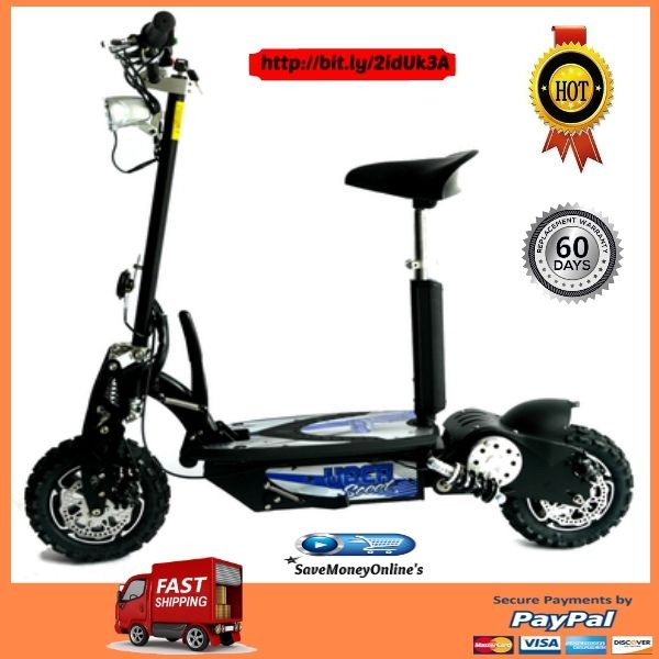The Best 500w 12v Adult Electric Foldable Scooter by Evo Powerboards  This Adult Electric Foldable Scooter is an efficient scooter features front and rear disc brakes for reliable stopping power and control. A ten mile range per charge is power...