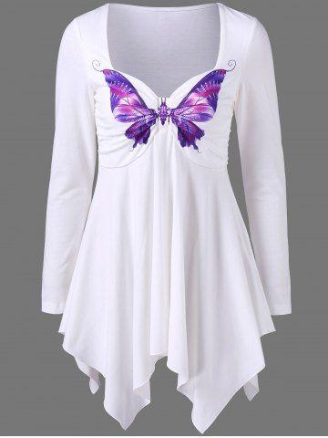 GET $50 NOW | Join RoseGal: Get YOUR $50 NOW!http://www.rosegal.com/t-shirts/butterfly-print-empire-waist-asymmetrical-1077291.html?seid=8569013rg1077291
