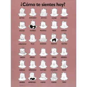 Como te Sientes Hoy How are You Feeling Today Motivational Poster Art Print