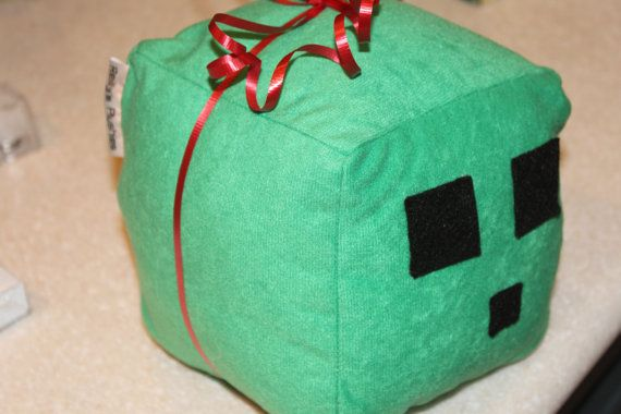 Minecraft Green Slime Plush Toy By Reilly S Plushies