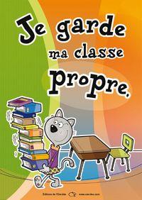Affiches « Règles de vie à l'école » - Propreté, Respect, Lever la main