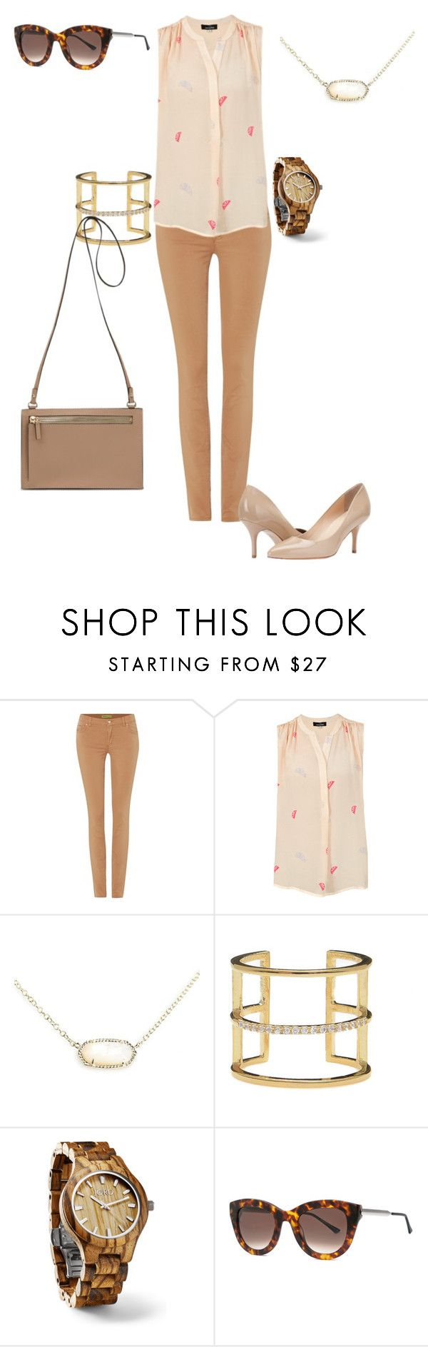 """Nudes all day #ukies"" by snyder-stephanie-anne on Polyvore featuring Versace, Mercy Delta, Kendra Scott, Jeweliq, Fieldcrest and Thierry Lasry"