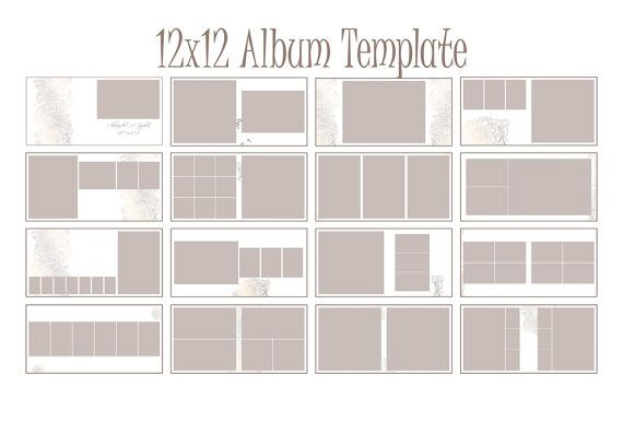 Instant Download 12x12 Square Album InDesign Template for Photographer - 19 spreads