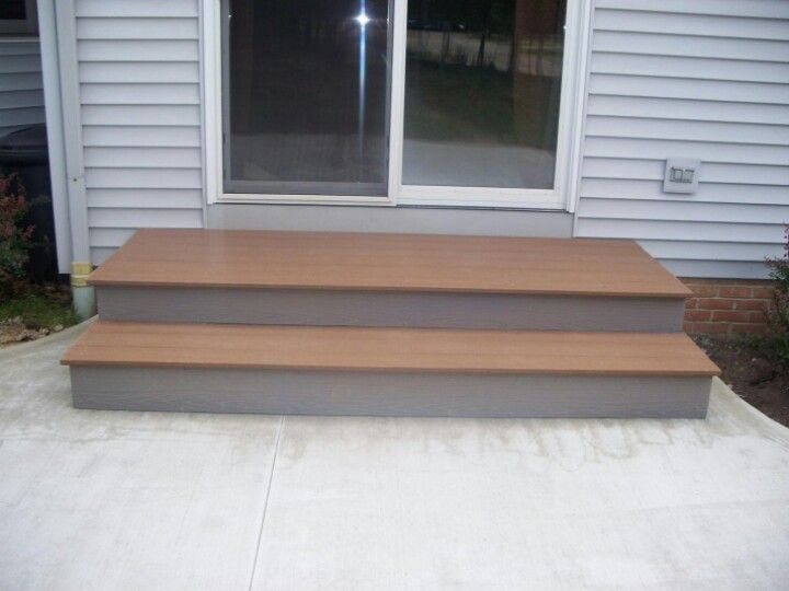 Patio Step Idea. Like The Larger First Step Out The Door