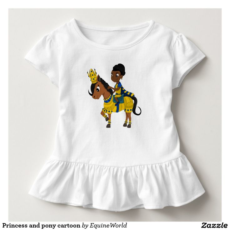 Princess and pony cartoon tee shirt
