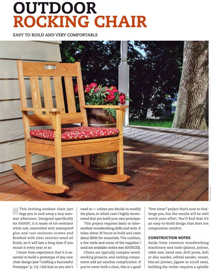 Best 25 contemporary outdoor rocking chairs ideas on for Porch rocker plans