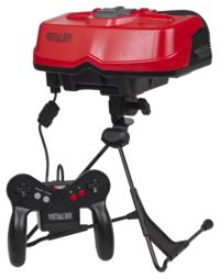 """The Virtual Boy (バーチャルボーイ Bācharu Bōi?) is a table-top video game console developed and manufactured by Nintendo. It was the first video game console that was supposed to be capable of displaying """"true 3D graphics"""" out of the box, in a form of virtual reality.  It was released on July 21, 1995 in Japan and August 14, 1995 in North America at a price of around US$180."""