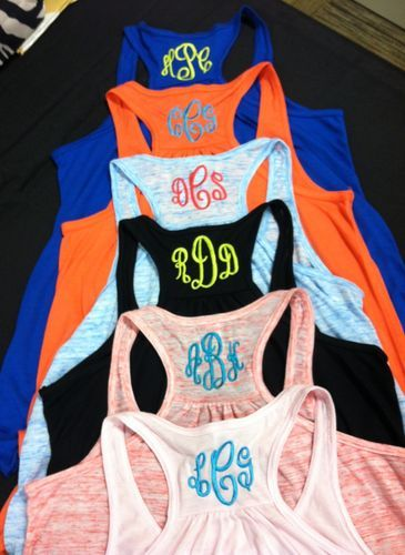 Monogram Racer Tanks for teens