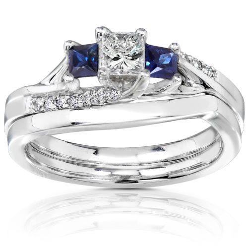 Diamond-and-Sapphire-Bridal-Set-3-5-Carat-ctw-in-14K-White-Gold