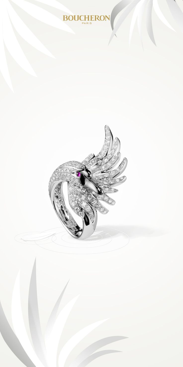 Cypris is the Cypriot name of Aphrodite, the goddess of Love, Pleasures and Beauty. She travels on a white Swan. A monogamous and faithful animal, the Swan brings happiness and carries a message of eternal  love.  Would you adopt it? #BoucheronAnimals