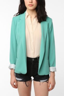 mint green blazer