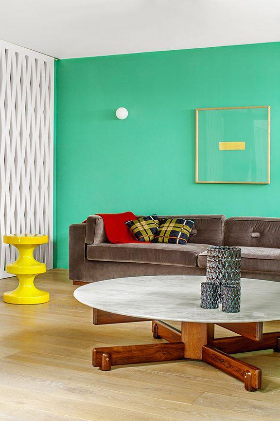 Appartement à Paris, décoratrice India Mahdavi © Matthieu Salvaing (AD n° 119 septembre-octobre 201