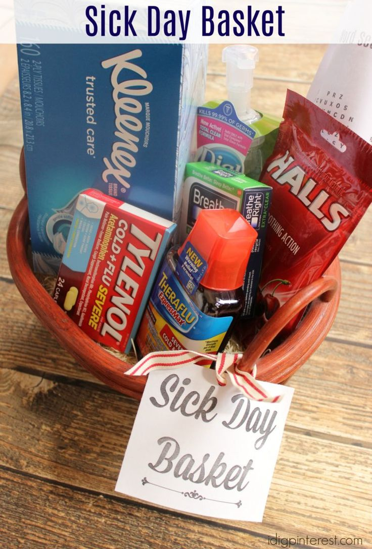 Sick Day Basket. This Sick Day Basket will be a welcome sight to someone in need! It's a perfect way to store essentials in one, convenient place and also makes a great gift! Plus, slip in a free printable Autumn Word Search for entertainment! #HappilyStocked #ad