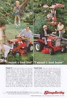 Simplicity Broadmoor 707 Riding Mower 1967 Ad Picture