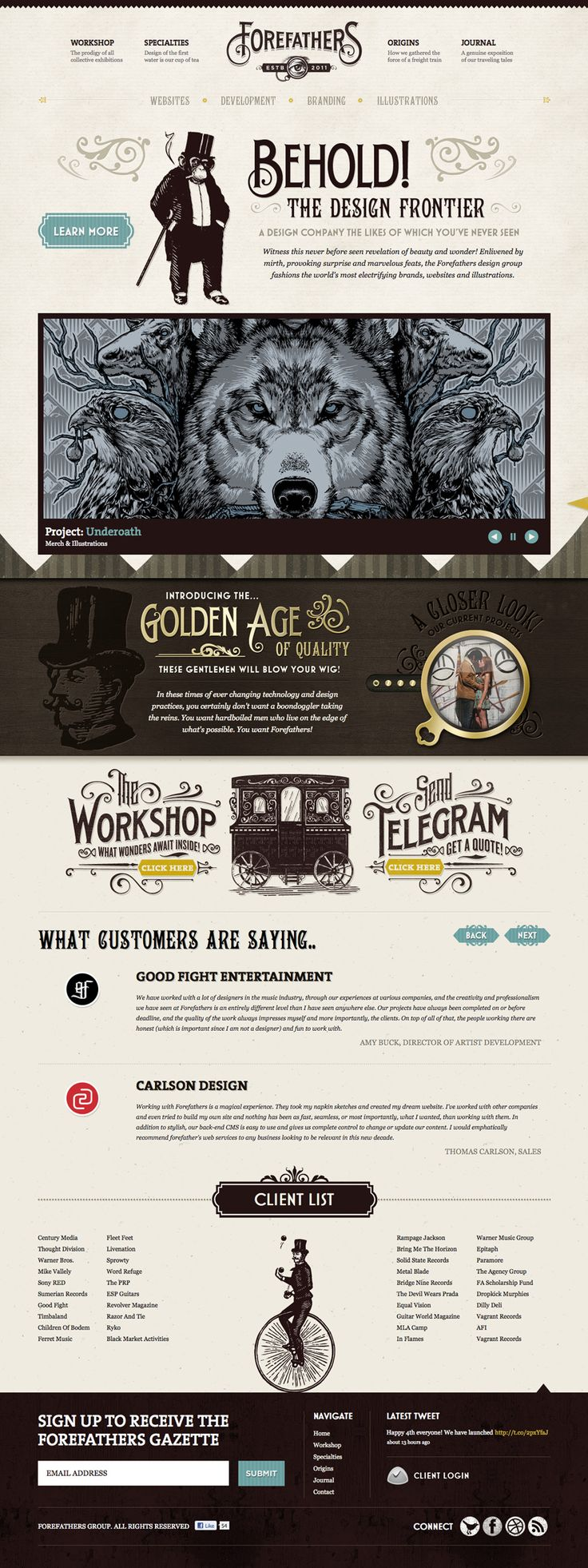 Unique Web Design, Forefathers #WebDesign #Design (http://www.pinterest.com/aldenchong/)