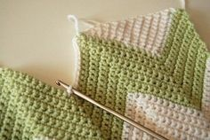How to make a baby blanket comforter. Chevron Baby Blanket - Step 3