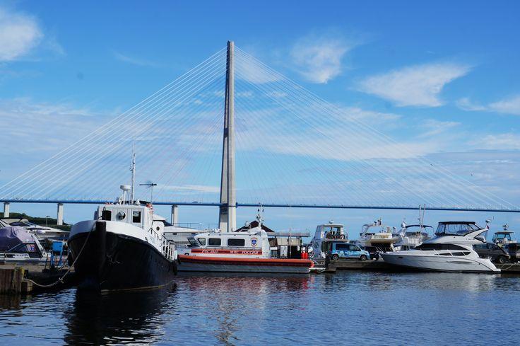 Russky bridge, filming location in Vladivostok, Primorye film commission