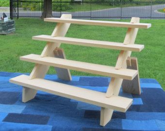 Portable display stand 4-shelf display soap, candles, display products vendors booth display