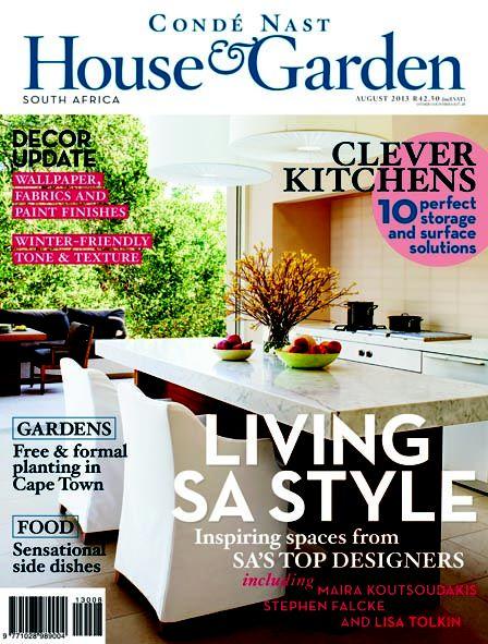 Condé nast house garden magazine south africa august 2013