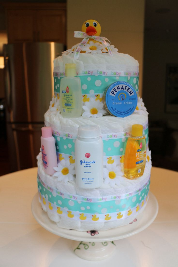 Gender Neutral Diaper Cake Baby Clark Pinterest