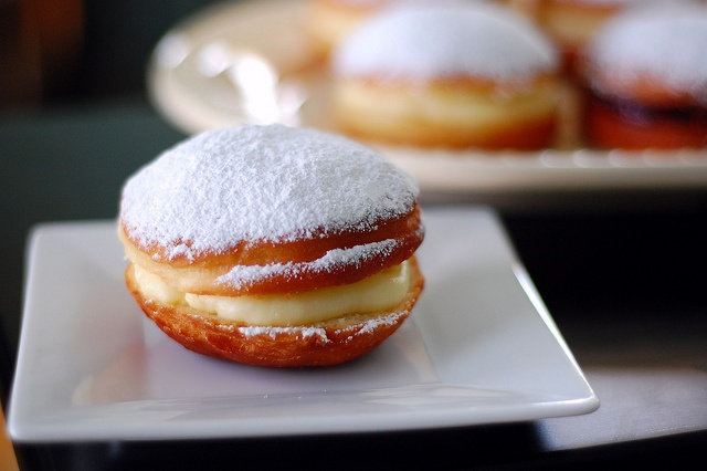 "... kee"") - Fried (custard or jelly-filled) donut by PenniesOnAPlatter.com"