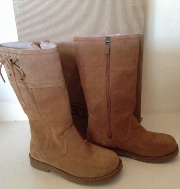 Ugg Rayanne Boots Brown Chestnut Girls Kids Size 11 Tall Riding Style 3301  NIB