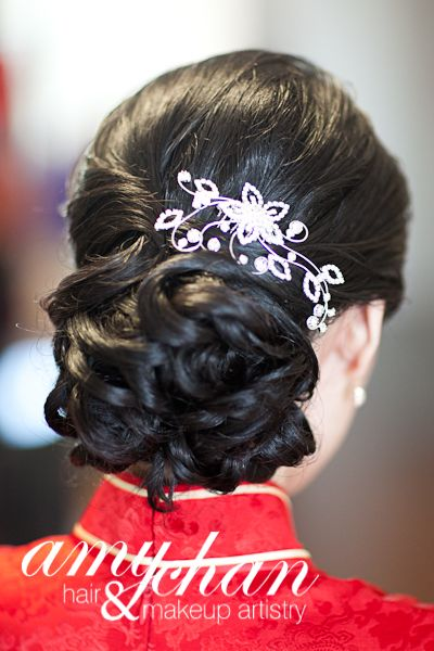 low complicated bun perfect for weddings