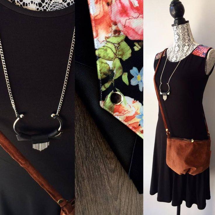 Pour les adeptes du noir, on a la parfaite petite robe estivale pour vous!!  Robe par METAMORPHOSE Collier par Miss Cocotte - Création de bijoux Sac par Deborah Adams Design Porte-feuille par Créations Zö