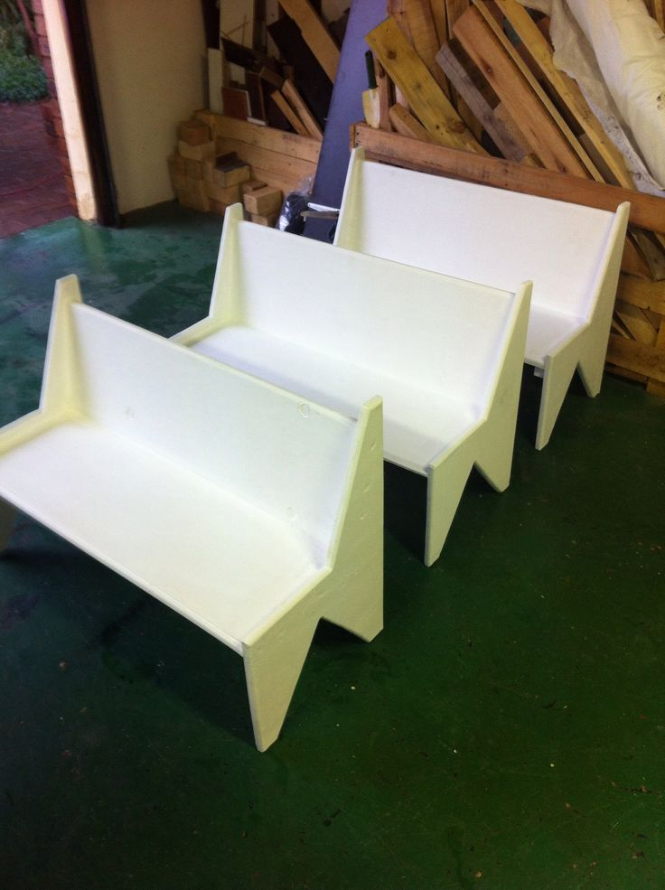 Kiddies wood benches made from off cut wood