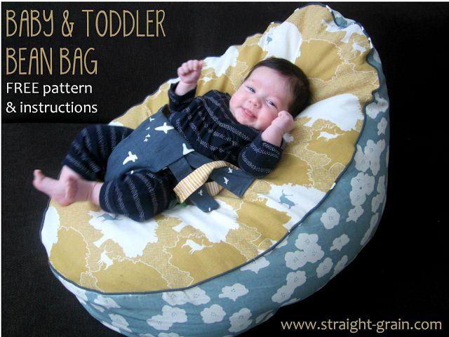 Sitzsack mit Anschnaller für Babys