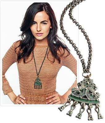 @JewelMint Nordic Treasure Necklace. Unique rustic charm you can add to almost any outfit.  It also donates 50% of proceeds to a good cause!: Shirts, Jade Necklaces, Currently Sweaters, Camilla Belle, Belle Style, Style Pinboard, Cbii Belle, Belle Stuff, Pretty People