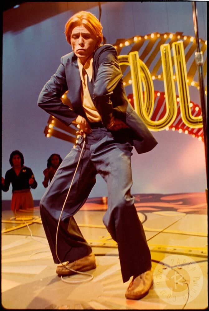 David Bowie does 'Fame' on Soul Train. Watch it and one can see why he was refered to as the 'Thin White Duke'. Great tune!