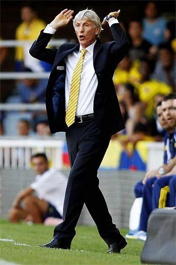 """""""Valoro mucho lo que han hecho los jugadores de la selección Colombia"""": José Pékerman El técnico argentino ha señalado que el partido celebrado en Barcelona le ha servido para probar a jugadores menos habituales que, según su opinión, han dado la cara ante un rival """"de mucho nivel""""."""