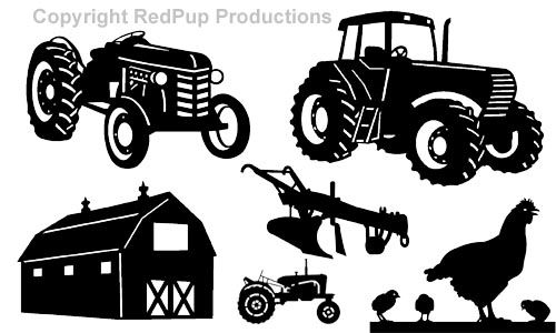 Silhouette Cutter Patterns | This original collection includes a selection of modern tractors ...