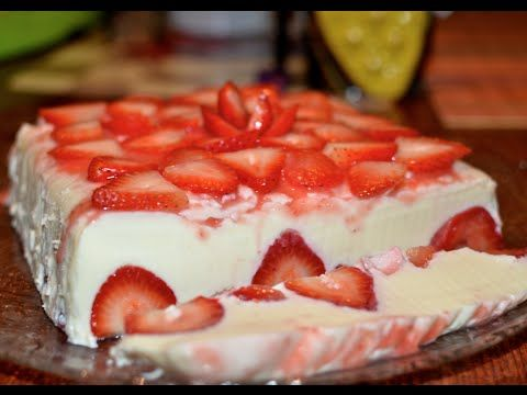GELATINA DE FRESA, YOGURT Y QUESO CREMA - YouTube