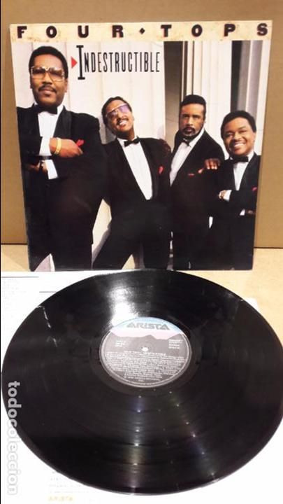 FOUR TOPS. INDESTRUCTIBLE. LP / ARISTA RECORDS - 1988 / MBC. ***/*** / LEVES MARCAS.