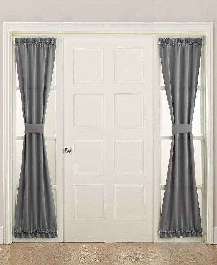 "Sun Zero Grant 26"" x 72"" Energy-Efficient Sidelight Curtain Panel"