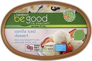 Sainsbury's Be Good to Yourself Vanilla Iced Dessert (1L)