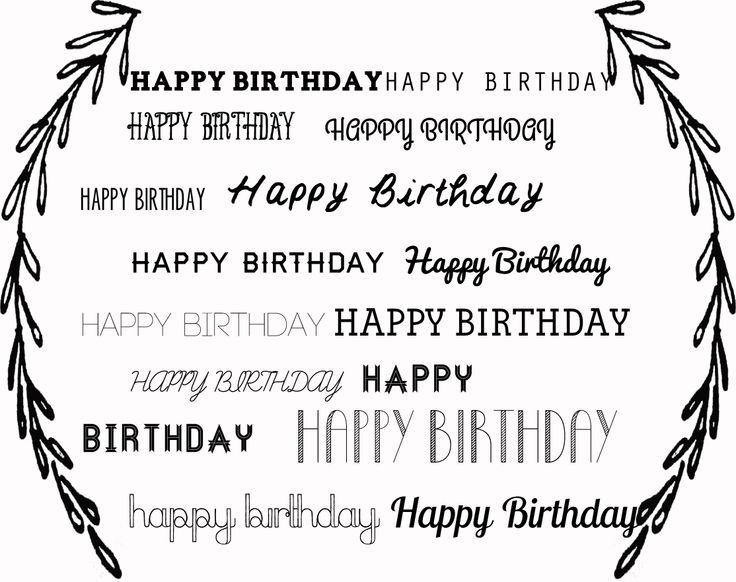 18 best FONT images – Birthday Card Font
