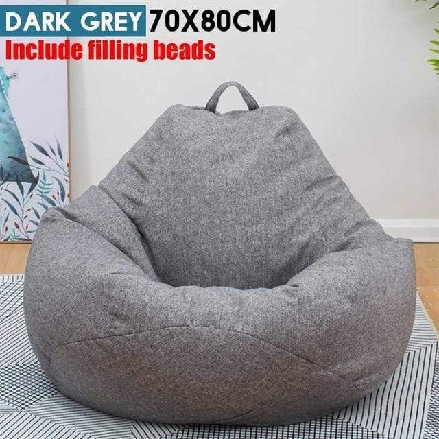 Kids Bean Bag 70x80cm Children Couch Lazy Chair Single Sofa Child Lounger With Filling Eps Beads Home Living Room Furniture Sofa In 2021 Bean Bag Sofa Large Bean Bags Large Bean