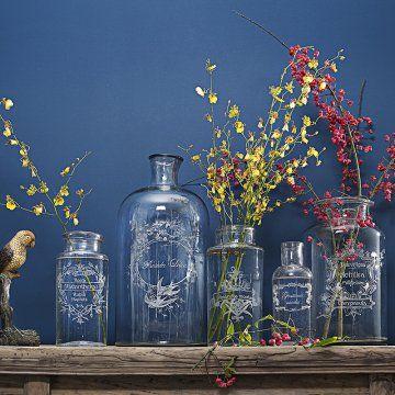 Des vases et des bouteilles gravés comme des bocaux anciens - Marie Claire Idées