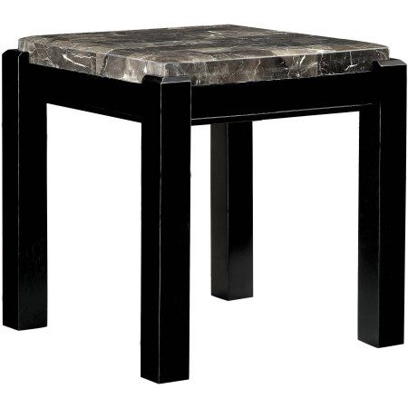 Furniture of America Starken Marble End Table, Multiple Colors, Gray