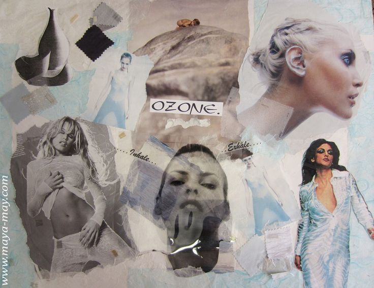 """Ozone"" by Angela Kurnia. Inspiration board. Photos, paper & fabrics Collage. #fashion #inspirationboard #art #storyboard #trend #summer #blue #photography #collage #theme #concept #womenswear"