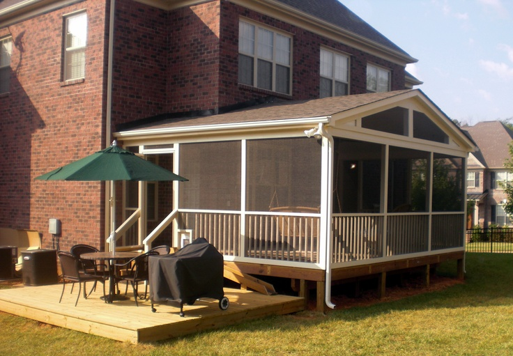 Screen Porch With A Grill Deck Extension Sunroom