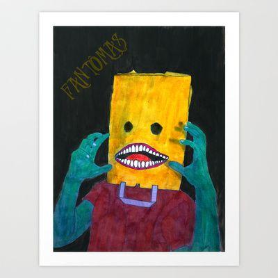 Fantômas Art Print by Plasmodi - $20.00