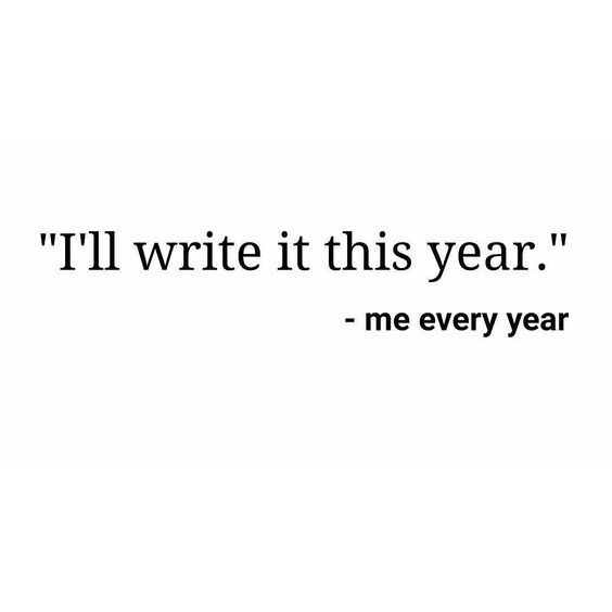 This Year Will Be Different - Writers Write